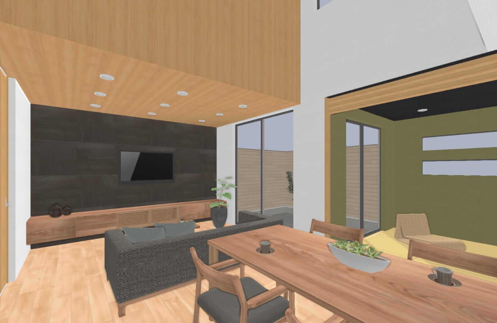3Dによる家のデモ画像