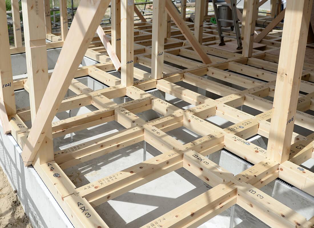 鉄筋コンクリートベタ基礎のイメージ画像