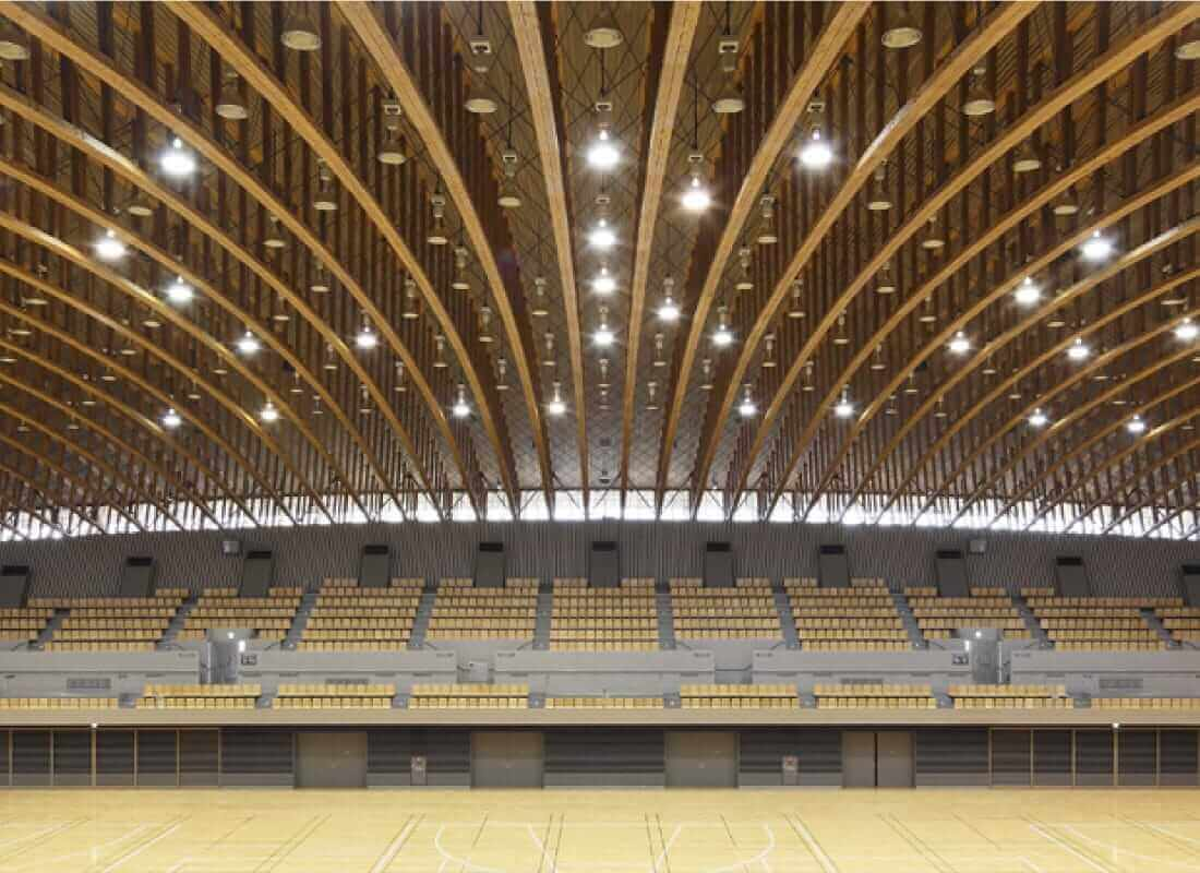 埼玉県所沢市の木造体育館の画像